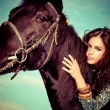 Womand horse — Stock Photo #16759483