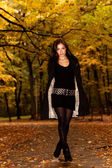 Autumn fashion portrait — Stock fotografie