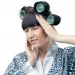 A cute girl with a headache — Stock Photo #23164026