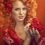 Autumn Woman Fashion Portrait. Fall. Beautiful Girl. — Stock Photo #23491605