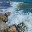 Waves Breaking On The Shore With Sea Foam — Stock Photo #23577885