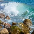 Waves Breaking On The Shore With Sea Foam — Stock Photo #23579859
