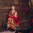 Girl in traditional Russian dress — Stock Photo #24492871
