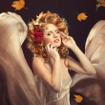 Autumn Woman Fashion Portrait. Fall. Beautiful Girl. — Stock Photo #24524721