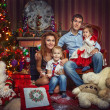 Family on New Year's Eve — Stock Photo #35596673