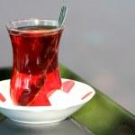 Turkish tea and traditional tea glass. — Stock Photo #13173444