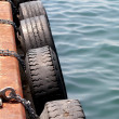 Stock Photo: Dock tire bumpers