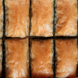 Delicious Turkish sweet  baklava. - Stock Photo