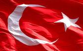 Full frame Turkish flag — Stock Photo
