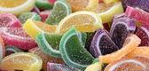 Färgstarka fruktig mjukt godis — Stockfoto