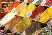 Turkish spices. Spice Bazaar in Istanbul — Photo