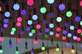 Renkli Işık Ampüller — Stok fotoğraf