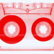 Audio cassette - red — Stock Photo