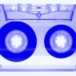 Audio cassette - blue - isolated on white background — Stock Photo