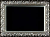 Antique silver and patterned picture frame — Stock Photo
