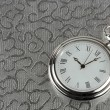 Silver pocket watch — Stock Photo