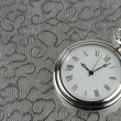 Silver pocket watch — 图库照片
