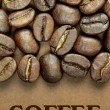Coffee beans and coffee  text — Zdjęcie stockowe