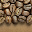 Coffee beans and space for text — Stock Photo