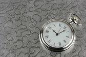 Silver pocket watch — Stock Photo