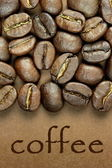 Coffee beans close up — Stockfoto