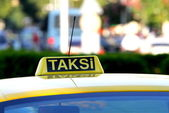 Turkish Taxi ( Taksi ) — Stock Photo