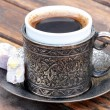 图库照片: Turkish coffee and turkish delight