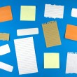 Various note papers , — Stock Photo