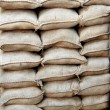 Stacked sandbags — Stock Photo