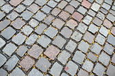 Brown and grey road paving stones — Foto Stock