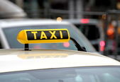 Taxi in traffic — Stock Photo