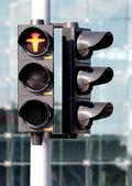 Znak stop dla pieszych. — Zdjęcie stockowe