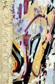 柏林墙和详细的涂鸦的一部分 — 图库照片