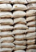 Yığılmış kum torbası — Stok fotoğraf