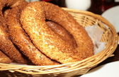 Traditional Turkish Bagels - Simit — Stock Photo