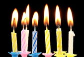 Birthday candles. — Stockfoto