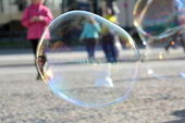 Big soap bubbles — Stock Photo
