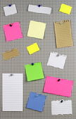 Note papers — Stockfoto