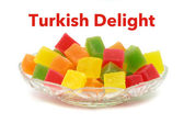 Colorful Turkish delight — Stock Photo