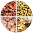 Various nuts and dried fruits — Stock Photo