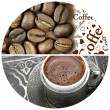 Coffee beans and Turkish coffee — Stock Photo