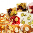 Delicious colorful Turkish delight - Stock Photo