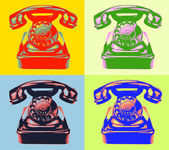 Old rotary phone pop art style image.. — Stock Photo