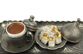 Turkish coffee and delight — Stock Photo