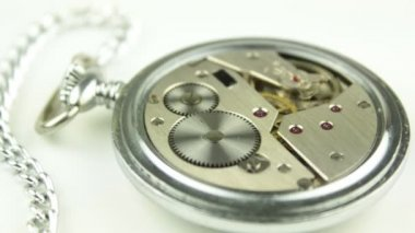 Mechanical pocket watch — Stock Video