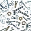 Various bolts, nuts, and washers — Stock Photo #36431397