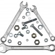 Wrenches, bolts, nuts, and washers — Stock Photo