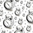 Silver alarm clocks — Stock Photo