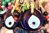 Turkish superstition evil eye beads — Foto Stock