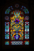 Stained glass window-Blue Mosque — Stock Photo